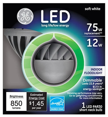LED Floodlight Bulb, Indoor, 850 Lumens, 12-Watt