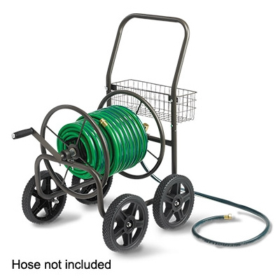 Hose Reel Cart, Holds Up To 250 Ft. of Hose