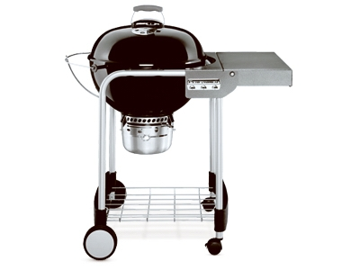 Performer Charcoal Grill, Black Porcelain, 22-In.