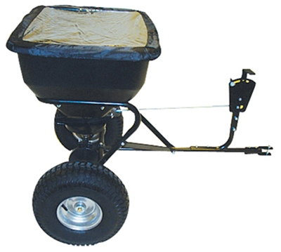 Tow-Behind Broadcast Spreader, 130-Lb. Capacity