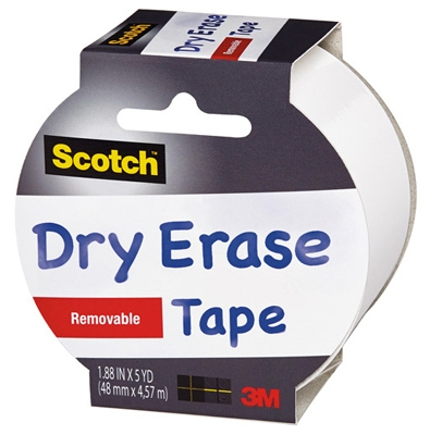 Dry Erase Tape, 1.88-In. x 5-Yds.