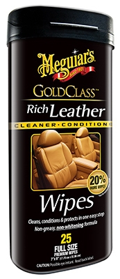 Gold Class Leather Cleaner & Conditioner Wipes, 25-Ct.