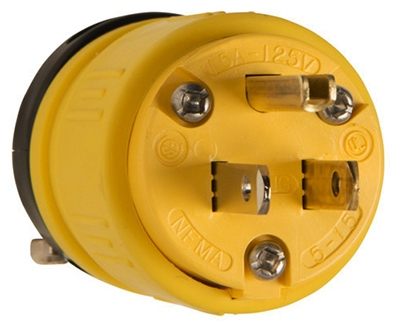 Rubber Plug, Yellow, 15-Amp, 125-Volt