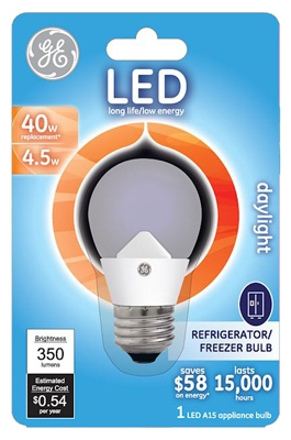 LED Appliance Bulb, 4.5-Watt