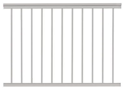 Railing, White Aluminum, 4-Ft.