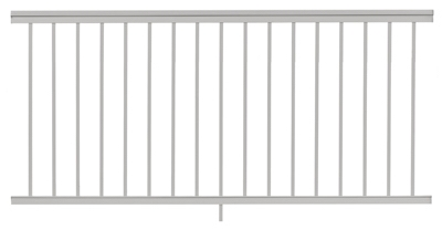 Railing, White Aluminum, 6-Ft.