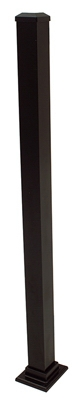 Aluminum Post, Black, 37-In.