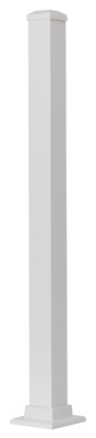 Aluminum Post, White, 37-In.