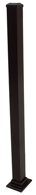 Aluminum Post, Black, 43-In.