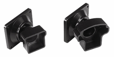 Railing Bracket, Angled, Black Aluminum