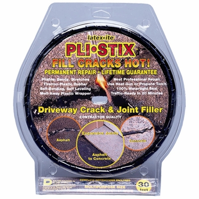 Pli-Stix Driveway Crack/Joint Filler, Black, 30-Ft.