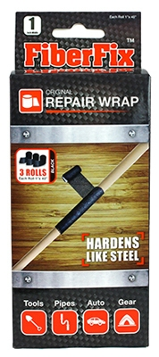 Fiberglass Repair Wrap, 3-Roll Pk., Ea. is 1 x 40-In.