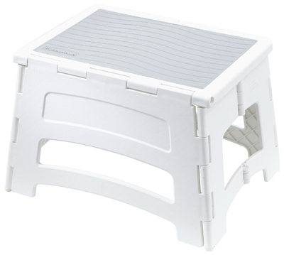 Folding Step Stool, Plastic