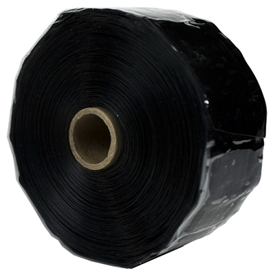 Rescue Silicone Tape, Self-Fusing, Black, 2-In. x 36-Ft.