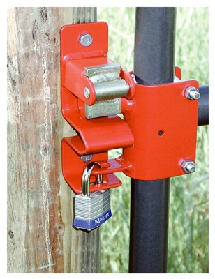 Gate Latch, Round Tube, 1-Way Lockable, 1-5/8 to 2-In.