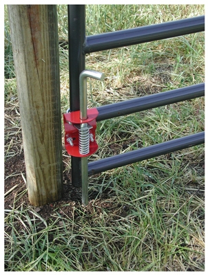 Livestock Gate Anchor, Round Tube, 1.75 to 2-In.