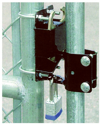Gate Latch, Round Tube, 2-Way Lockable, 1.25 to 1.5-In.