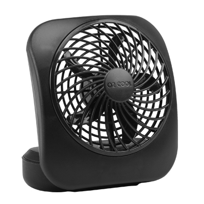 Portable Fan, 2-Speed, Black, 5-In.