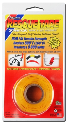 Rescue Silicone Tape, Self-Fusing, Yellow, 1-In. x 12-Ft.