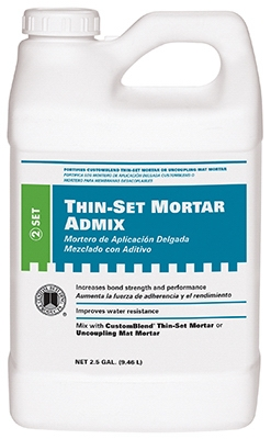 Thin-Set Mortar Admix, 2.5-Gal.