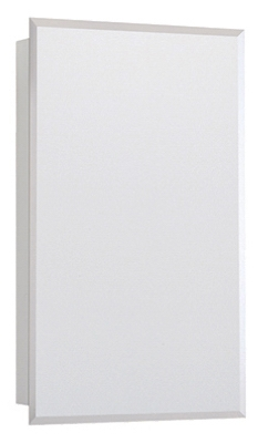 Medicine Cabinet, Swing Door, Frameless Mirror, Beveled Edges, 16-In. x 26-In.