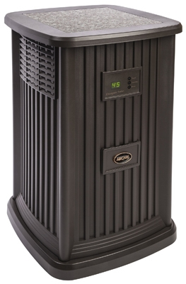 Pedestal Evaporative Humidifier, Espresso, 3.5-Gal. Water Capacity, Up to 2400 Sq. Ft. Coverage