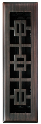 Floor Register,  Oil-Rubbed Bronze, 2.25 x 12-In.