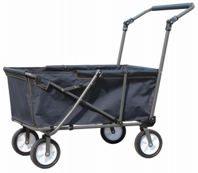 Folding Work Wagon, Steel & Polyester