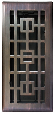 Floor Register,  Oil-Rubbed Bronze, 4 x 10-In.