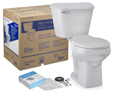 Pro-Fit 4 Toilet Kit, Round, White