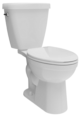 Prelude Toilet, Low-Flow, Elongated-Front, White Vitreous China, 2-Pc.