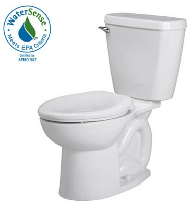 Toilet To Go Bowl & Tank,  Low-Flow, Round Front, White