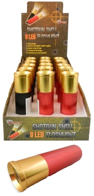 LED Flashlight, Shotgun Shell Design, 9-LED.