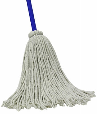 Cotton Deck Mop With 48-Inch Steel Handle
