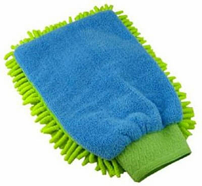 Green Cleaning Shaggy Duster Mitt