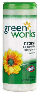 30-Count Natural Biodegradable Cleaning Wipes