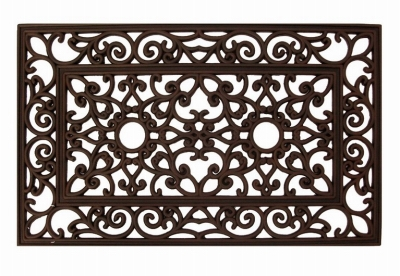 Rubber Doormat, Bronzed, 18 x 30-In.