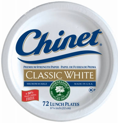72-Count 8-3/4-Inch Classic White Lunch Plate
