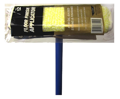 Oil-Based Floor Finish Applicator With Pole, Microfiber, 12-In.