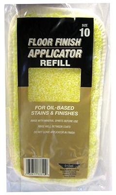 Oil-Base Floor Finish Applicator Refill, 10-In.