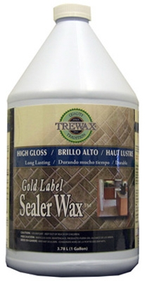 Gold Label Floor Sealer Wax, Gloss Finish, 128-oz.