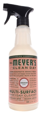 Mrs. Meyers Clean Day, Geranium Scent Multi Surface Everyday Cleaner Trigger Spray,  16-oz.