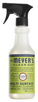 Mrs. Meyers Clean Day, Lemon Verbena Scent Multi Surface Everyday Cleaner Trigger Spray,  16-oz.