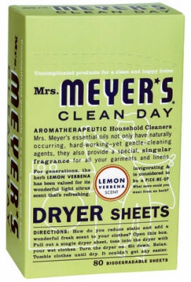 80-Count Clean Day Lemon Verbena Scent Dryer Sheets
