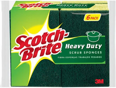 6-Pack Heavy Duty Scrub Sponge