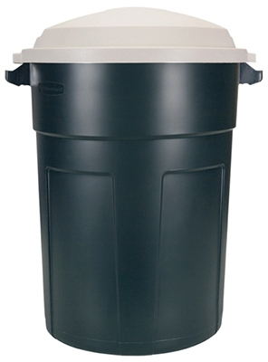 Roughneck 32-Gallon Plastic Trash Can With Lid