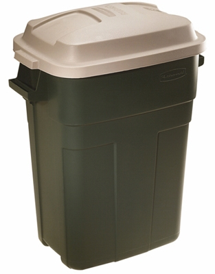 Roughneck 30-Gallon Evergreen Plastic Trash Can
