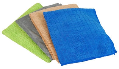 Microfiber Cleaning Cloth, Green, 4-Pk.