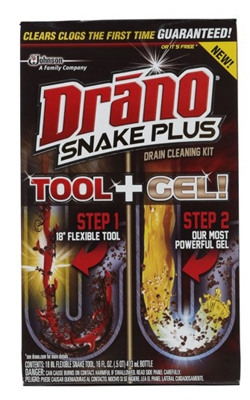 Snake Plus Drain Cleaning Kit, 16-oz.