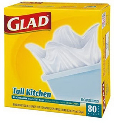 Tall Kitchen Garbage Bags, White, 13-Gal., 80-Ct.